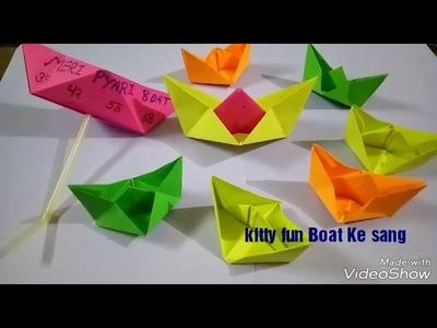 KITTY fun ???? BOAT ke sang. . .  Happy moments by Jyoti creation kitty with fun