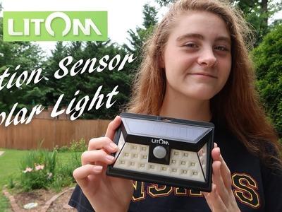 ????LITOM 24 LED Outdoor Motion Sensor SOLAR LIGHT REVIEW ????