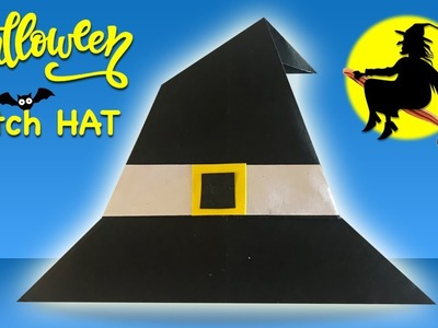 Make Paper WITCH HAT for Halloween (2018) ???? Easy DIY Paper Crafts ???? [4K]