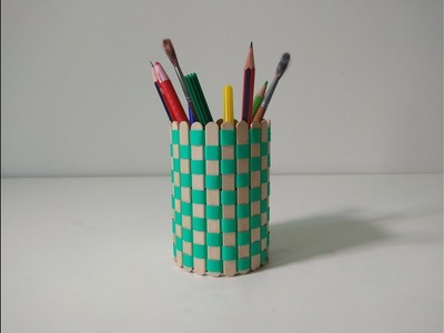 Make Pen Stand With ice cream stick | Useful Handicraft