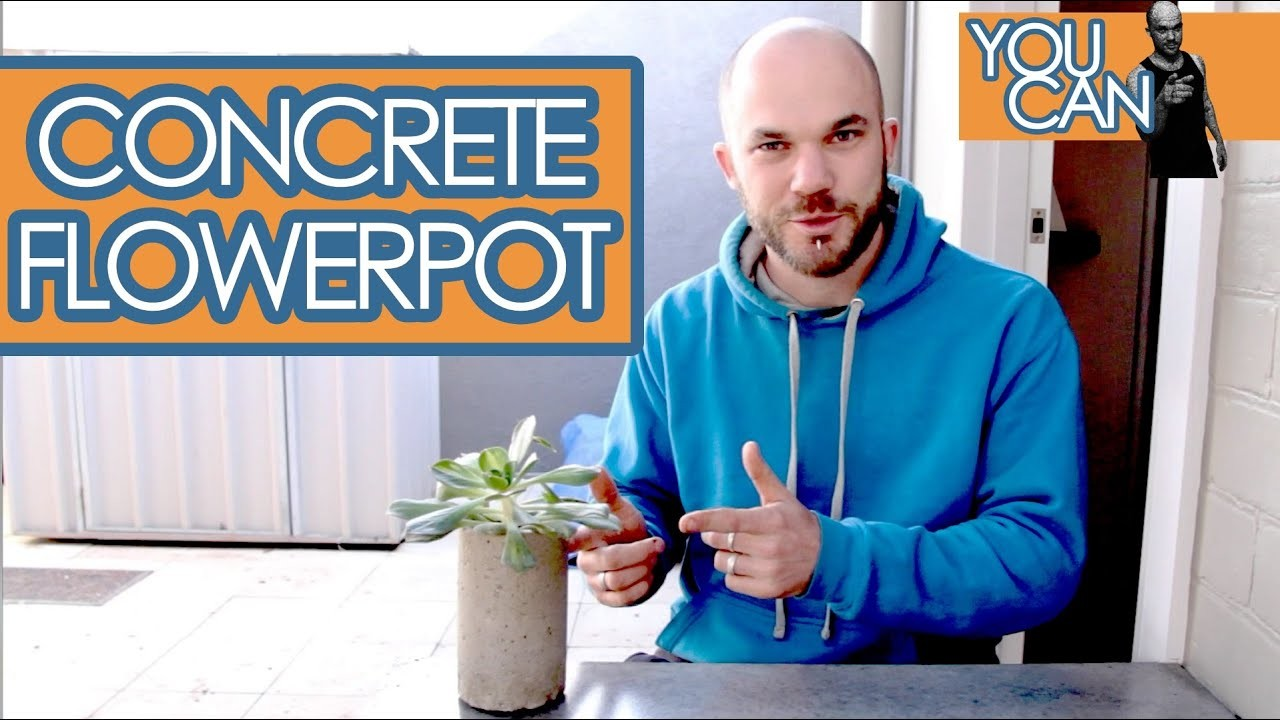 Make Your Own Concrete Flower Pot, Quick And Easy | You Can
