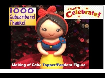 Making of Fondant Edible Doll Figure - Step By Step( Cake Topper)