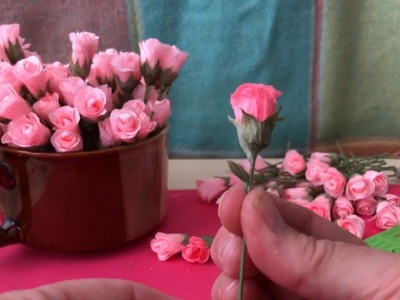 Mini Crepe Paper Rose Buds