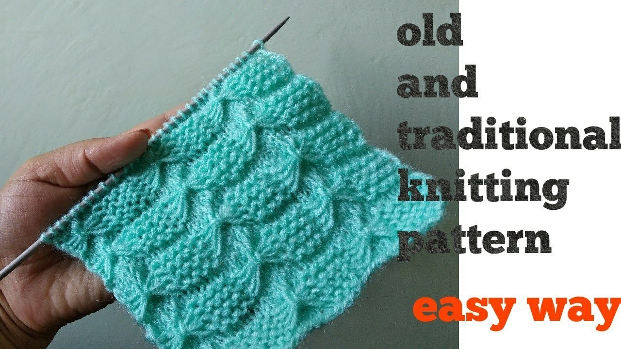 Old and traditional.beautiful Knitting pattern *forever* for all projects in Hindi English subtitles