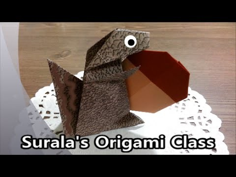 Origami - Squirrel. 종이접기 - 다람쥐