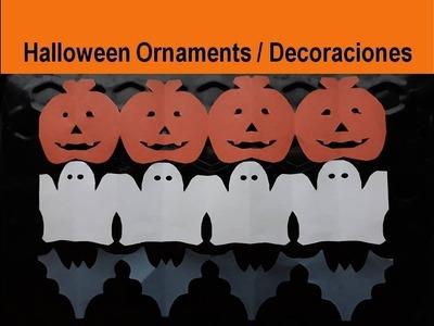 Paper Chain #Decoration for Halloween - Guirnalda adorno Día de los Muertos Manualidades