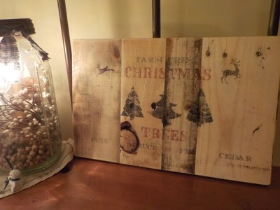 Rustic Sign for Christmas ~ Pallet Project!