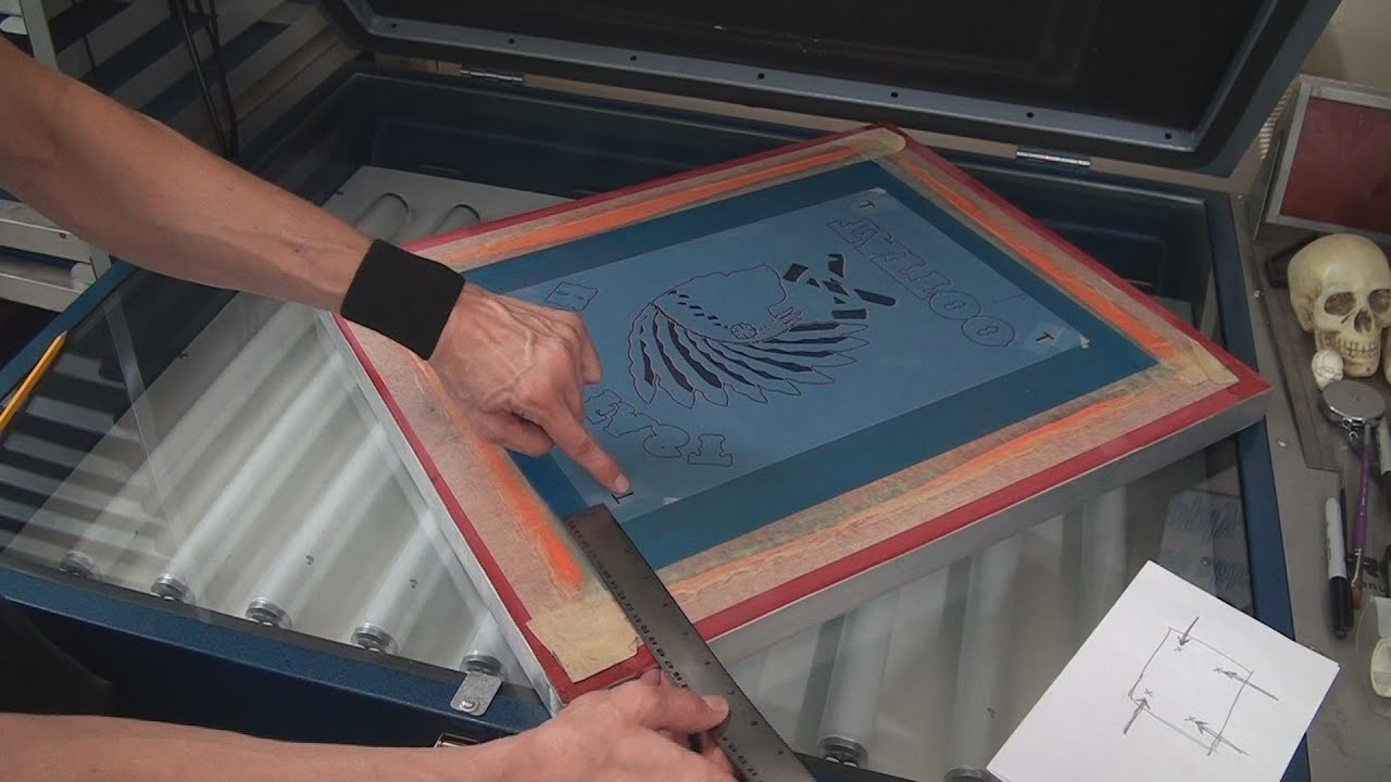Screenprinting Multi Colors: How To Line Up Film Positives On Screens