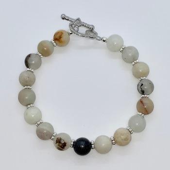 Small Multi-Color Stone Bead Bracelet