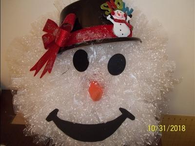 Snowman wreath tutorial Part #1