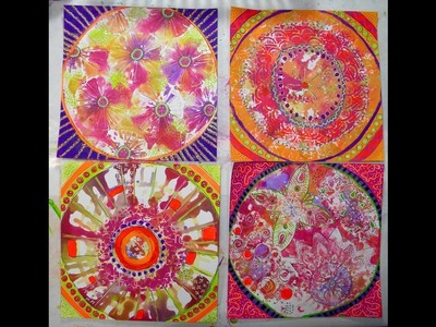 Spin Art With Alcohol Inks and Gel Press by Kathy Adams