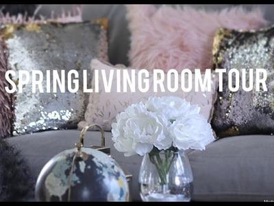 ???? SPRING GLAM LIVING ROOM TOUR~ HOME GOODS~ROSS~TARGET FINDS????