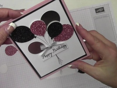 Stampin' Up! Happy Birthday Glitter Card 035
