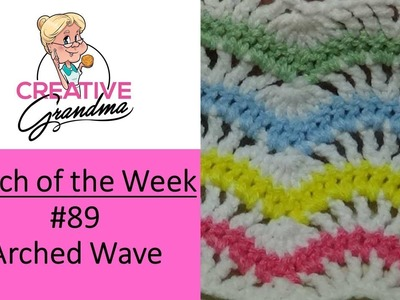 Stitch of the Week # 89  Arched Wave Stitch or the Upside Down Fans and Feathers