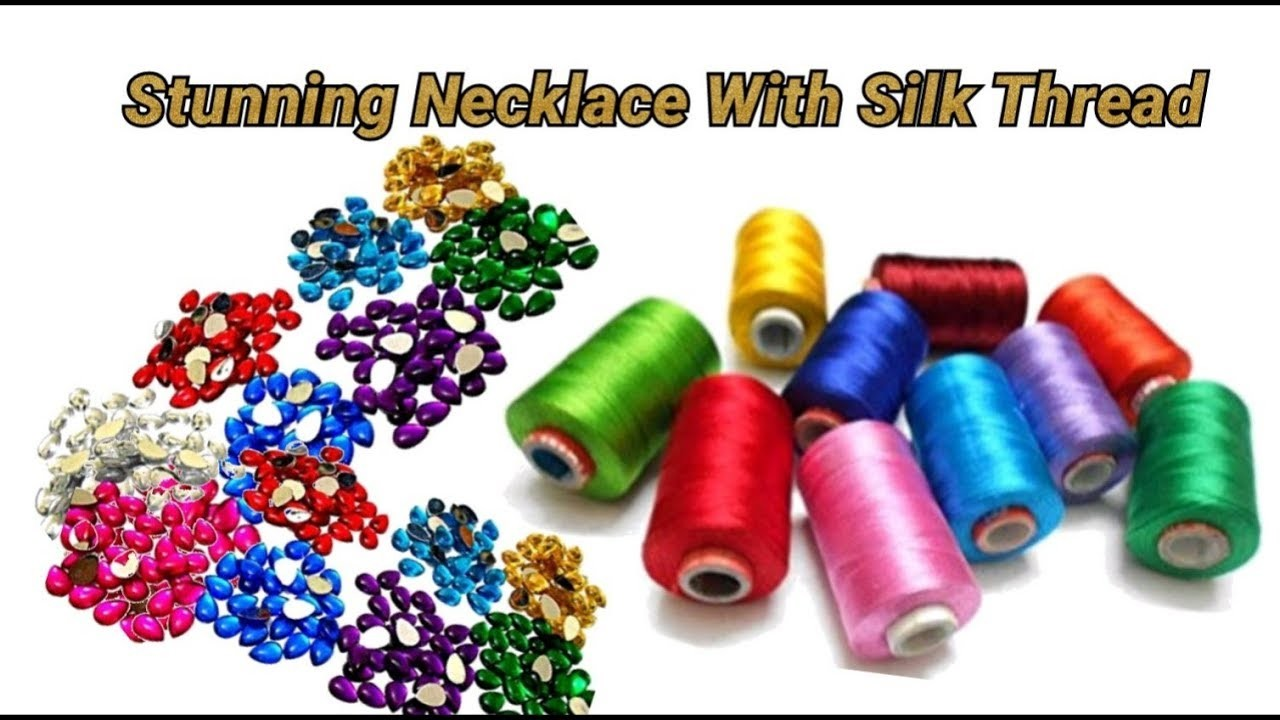 Stunning necklace making with very easy method