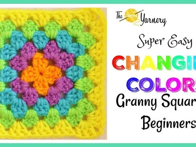 Super Easy Granny Square for Beginners - Changing Colors!
