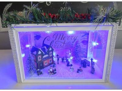 Tricia's Christmas: Dollar Tree Christmas Scene In Display Box