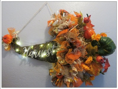 Tricia's Creations: Fall Cornucopia Wall Hanging Arrangement. Using Dollar Tree Witch Hat