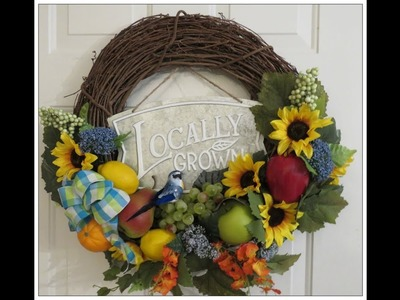 Tricia's Creations: Fruit Wreath