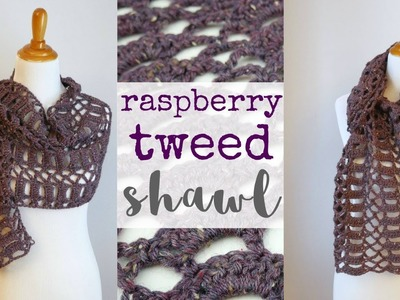 UPDATED!  How To Crochet the Raspberry Tweed Shawl