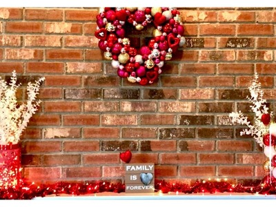 Valentines Day Budget Home Decor For Fireplace Mantel