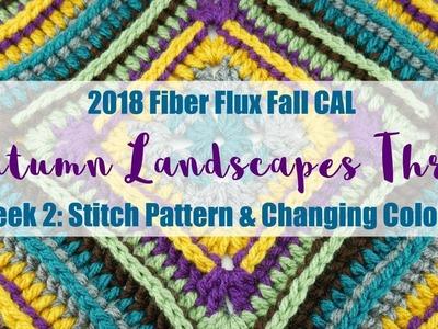 2018 Fiber Flux Fall CAL, Autumn Landscapes Throw: Week 2 Blanket Stitch Tutorial