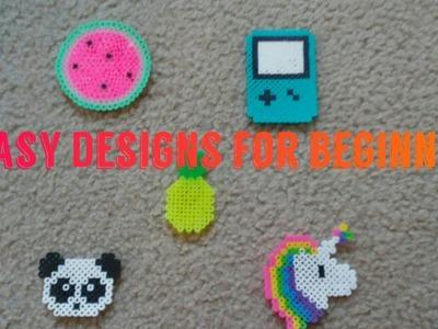 5 Super Easy Designs for Beginners!   Perler Beads