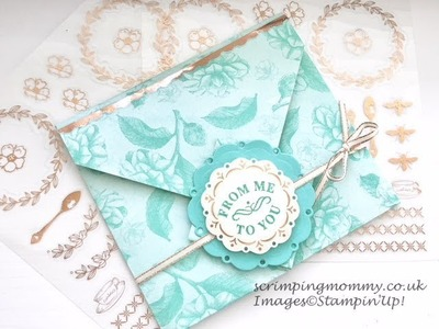 All in one envelope card . . with Tea room by Stampin' up!