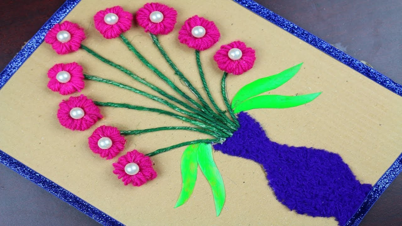 Amazing Crafts Ideas | Craft Ideas Using Woolen & Cardboard - Waste out of best -DIY arts and crafts