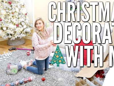 CHRISTMAS DECORATE AND CLEAN WITH ME   CHRISTMAS 2018   Love Meg
