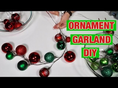 Christmas Dollar Tree DIY. Making Ornament Garlands  (How To). Christmas Tree And Wreath Decor