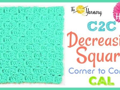 Corner to Corner C2C - Decreasing into a Square  - LEFT HANDED
