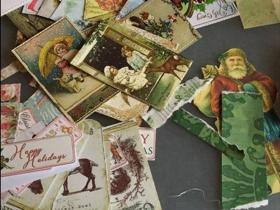 Craft with me | Christmas ephemera | tags and journaling cards