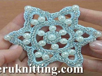 Crochet 6-Pointed Snowflake Motif Tutorial 48