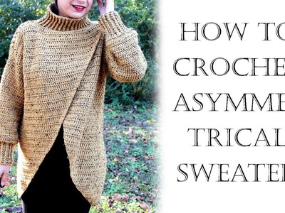 Crochet Asymmetrical Cardigan Sweater