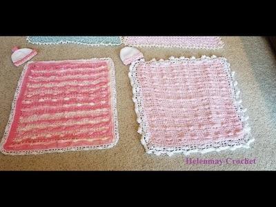 Crochet Flower Of My Heart Stroller Cuddle Blanket Border Part 2 of 2 DIY Video Tutorial