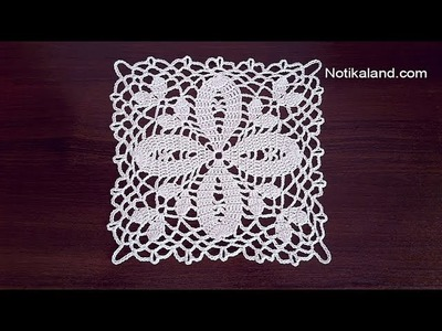 Crochet  motif  Pattern for  Doily Tablecloth Table runner  PART 2