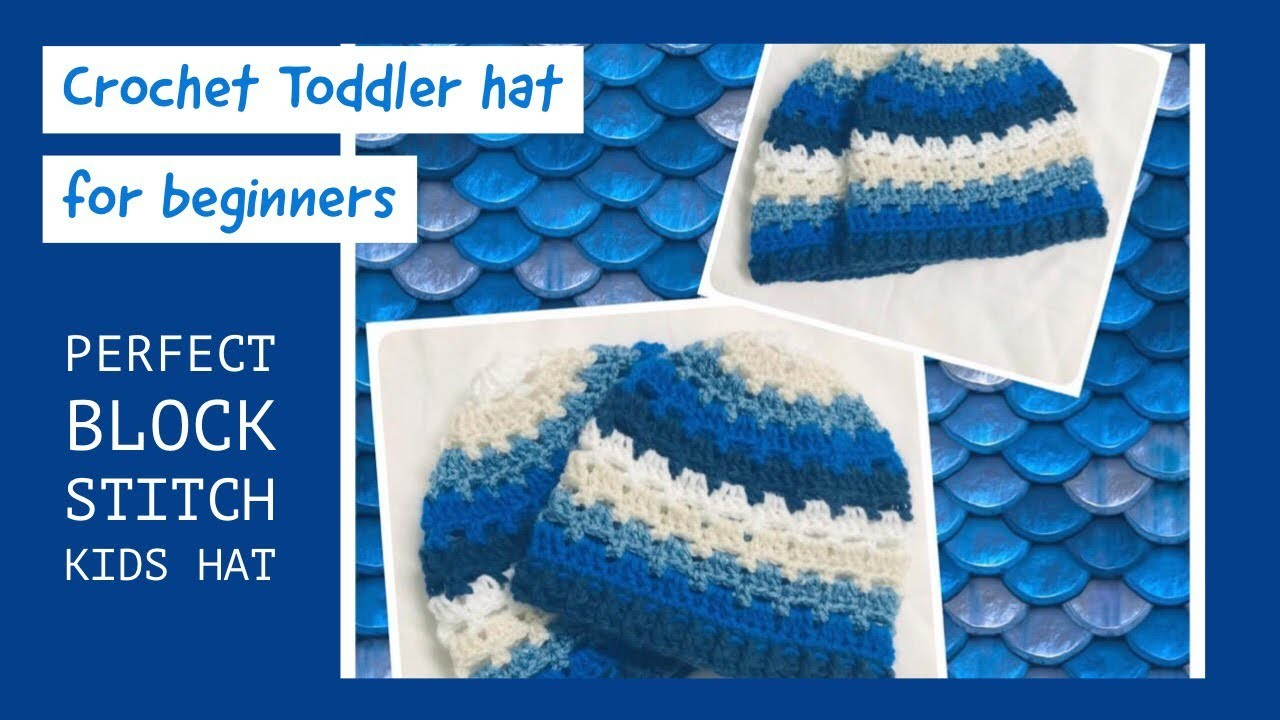 Crochet simple and easy toddler hat - English version