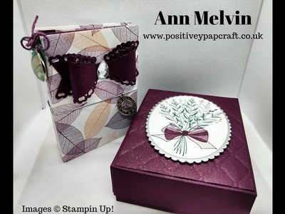 Dinky Waterfall Mini Album With Matching Gift Box! Easy Project :-)