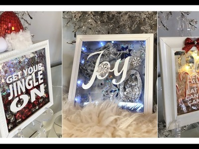 DIY | 3 EASY & INEXPENSIVE CHRISTMAS 2018 SHADOW BOX IDEAS