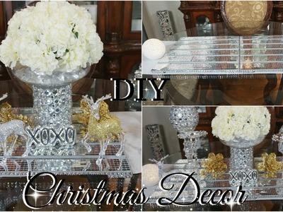 DIY DOLLAR STORE GLAM CHRISTMAS TABLE RUNNER | DIY CHRISTMAS HOME DECOR