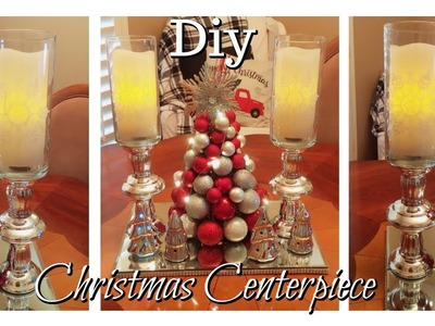 DIY Dollar Tree Christmas Centerpiece |$1 items can look Festive and Elegant on a budget!