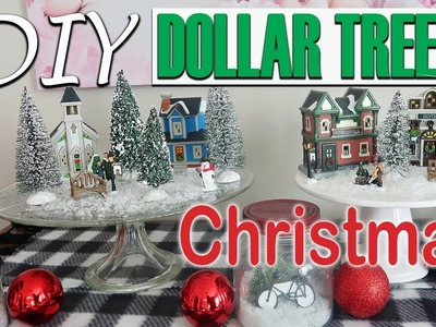 ????DIY DOLLAR TREE CHRISTMAS DECOR 2018 - CHRISTMAS MINIATURE VILLAGE