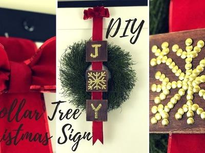 DIY EASY CHRISTMAS WOOD SIGN|DOLLAR TREE CHRISTMAS DECOR 2018 |FARMHOUSE CHRISTMAS DECOR