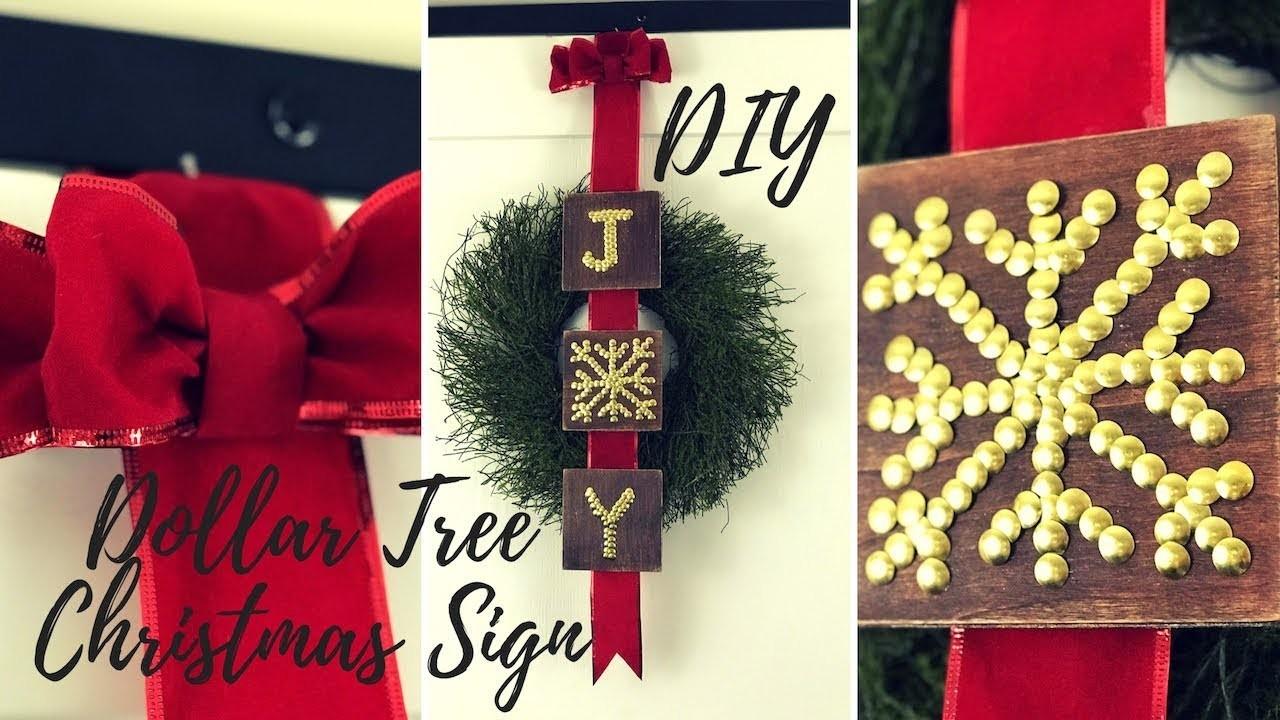 DIY EASY CHRISTMAS WOOD SIGN DOLLAR TREE CHRISTMAS DECOR 2018  FARMHOUSE CHRISTMAS DECOR