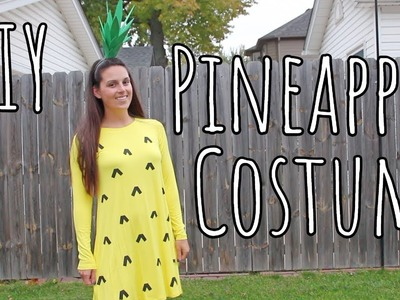 DIY | Easy Last-Minute Pineapple Halloween Costume