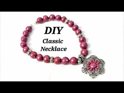 DIY Easy To Make Polymer Clay  Classic Necklace | Jewelry Making Tutorial