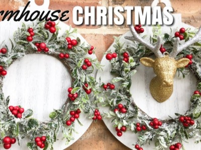 DIY FARMHOUSE DECOR | TARGET DOLLAR SPOT CHRISTMAS | DIY CHRISTMAS DECOR