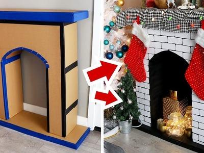 DIY Faux Fireplace made of Cardboard - HGTV Handmade