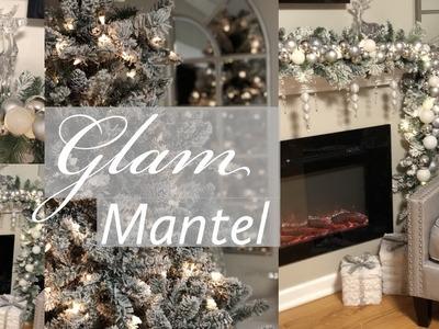 DIY GLAM  CHRISTMAS MANTEL GARLAND    WHITE & SILVER    2018